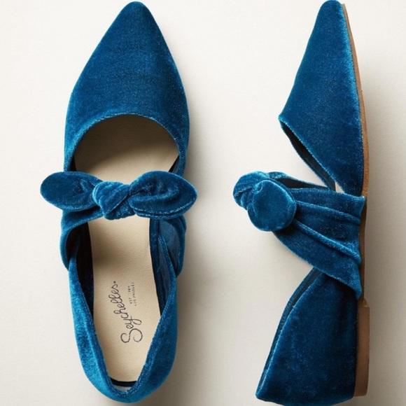 Anthropologie Shoes - ‼️NEW Anthropologie Seychelles Velvet flats ‼️